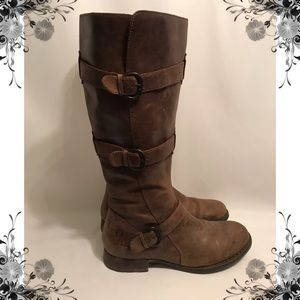 Børn Three Strapped Leather Boot